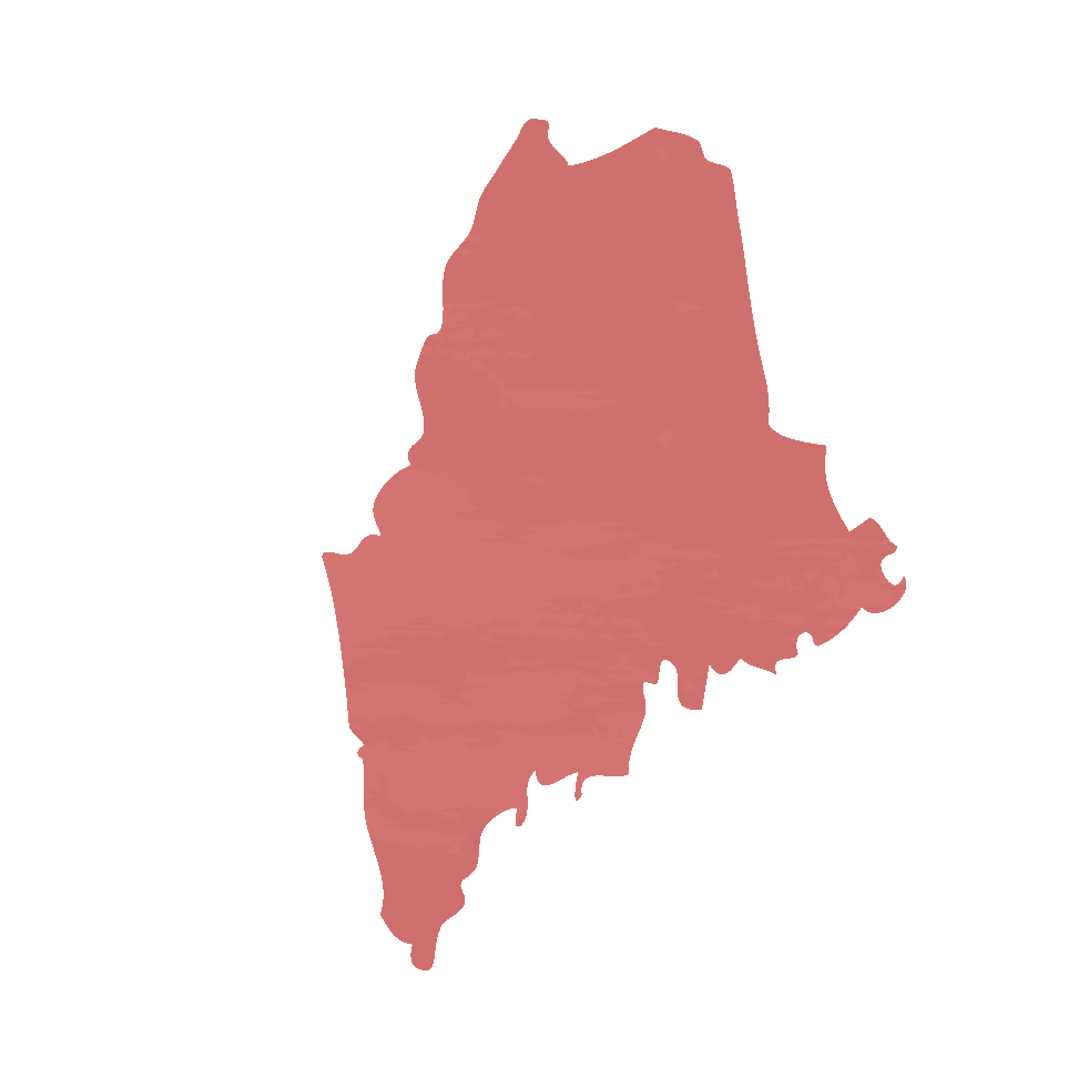 Silhouette of Maine