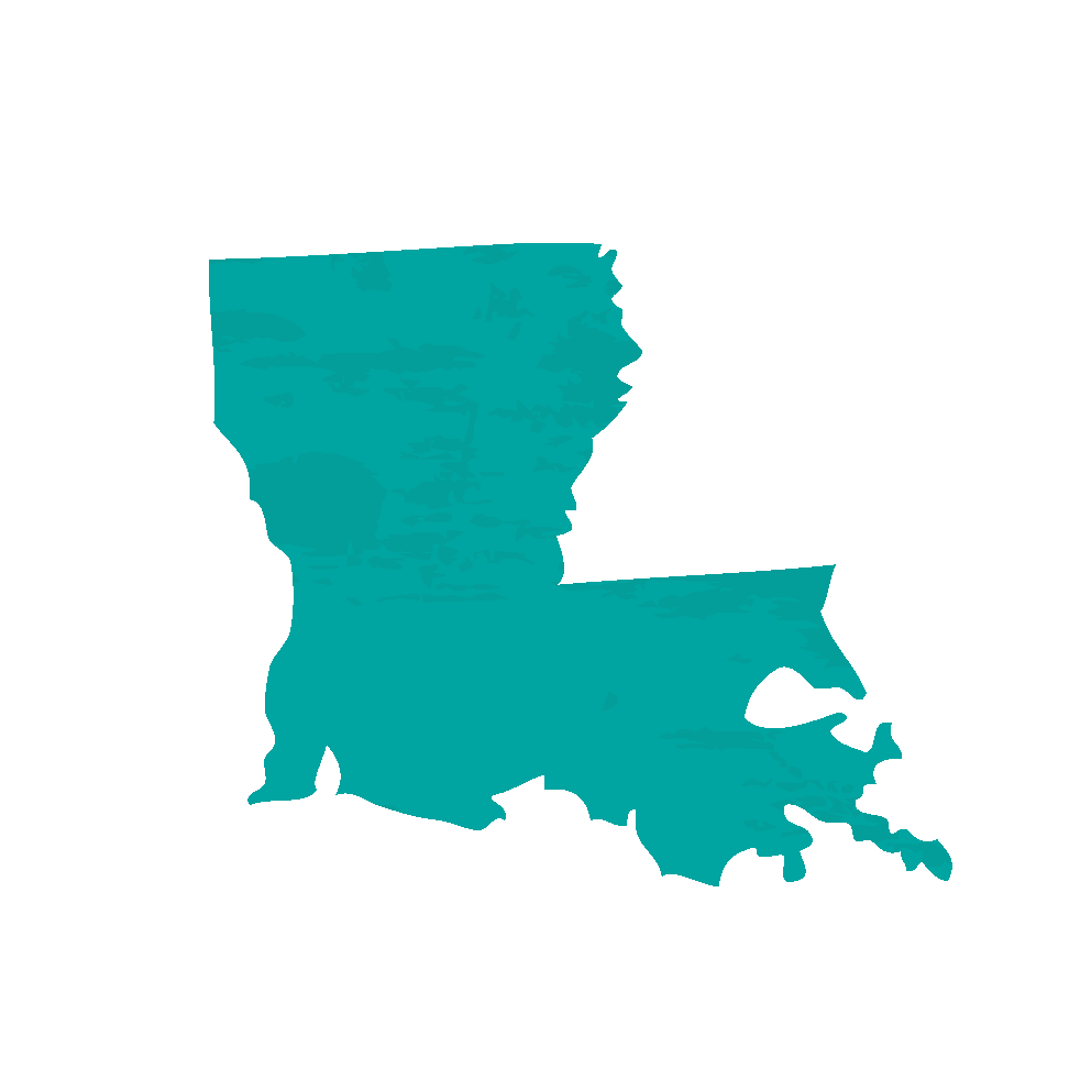 Carte de la Louisiane