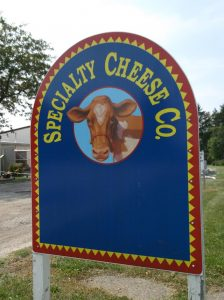 Signboard for Specialty Cheese Company (Courtesy of Specialty Cheese Co.)
