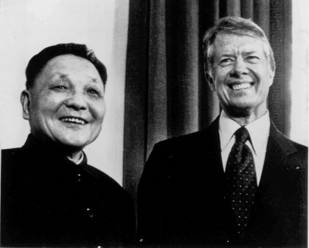 Deng Xiaoping and Jimmy Carter (© AP Images)