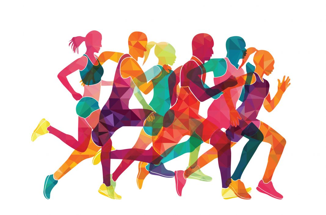 Illustration of six runners (Shutterstock)