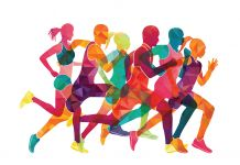 Illustration of six runners (Shutterstock)