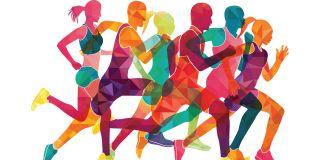 Ilustración de seis corredores (Shutterstock)