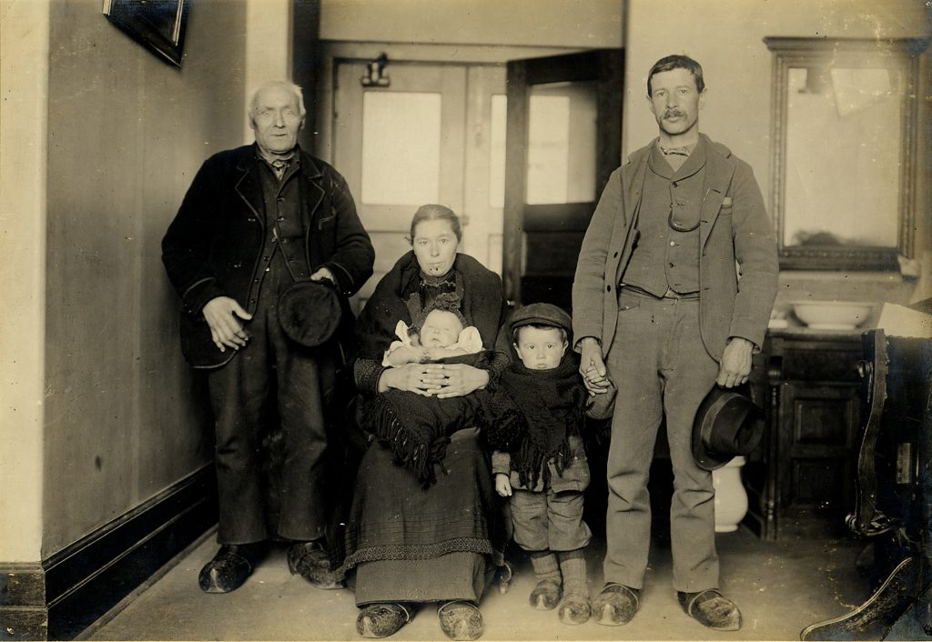 Family of five in black and white photo (National Park Service)