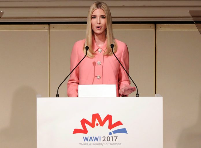 Ivanka Trump speaking at lectern (© AP Images)