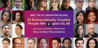 Screenshot of video showing 2017 MacArthur Foundation grant recipients (MacArthur Foundation)