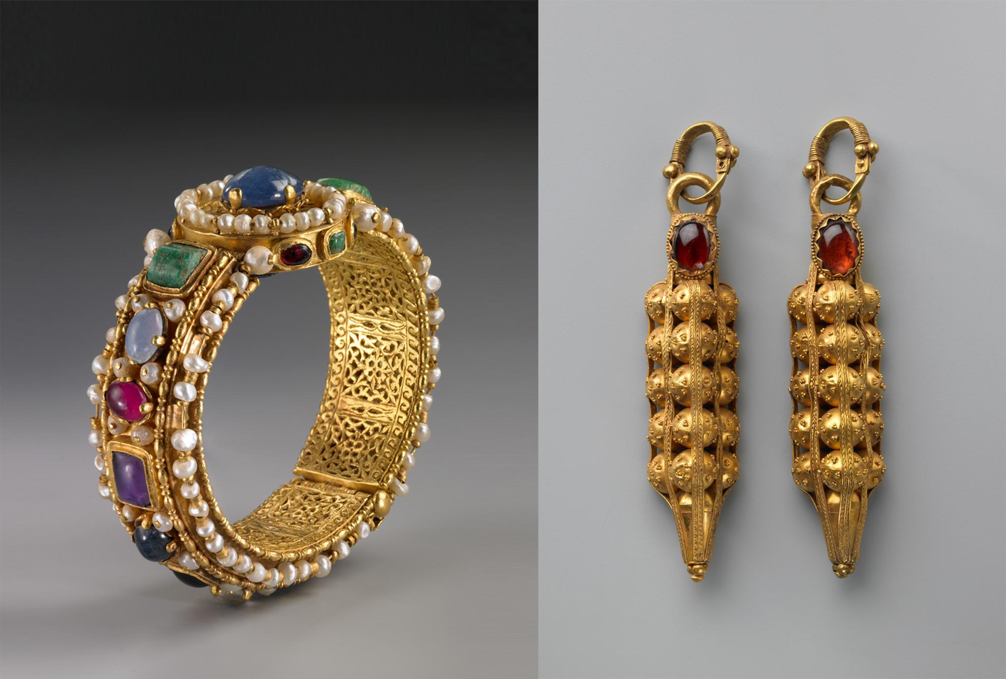 Bejeweled bracelet and earrings (© Bruce M. White/Toledo Museum of Art)