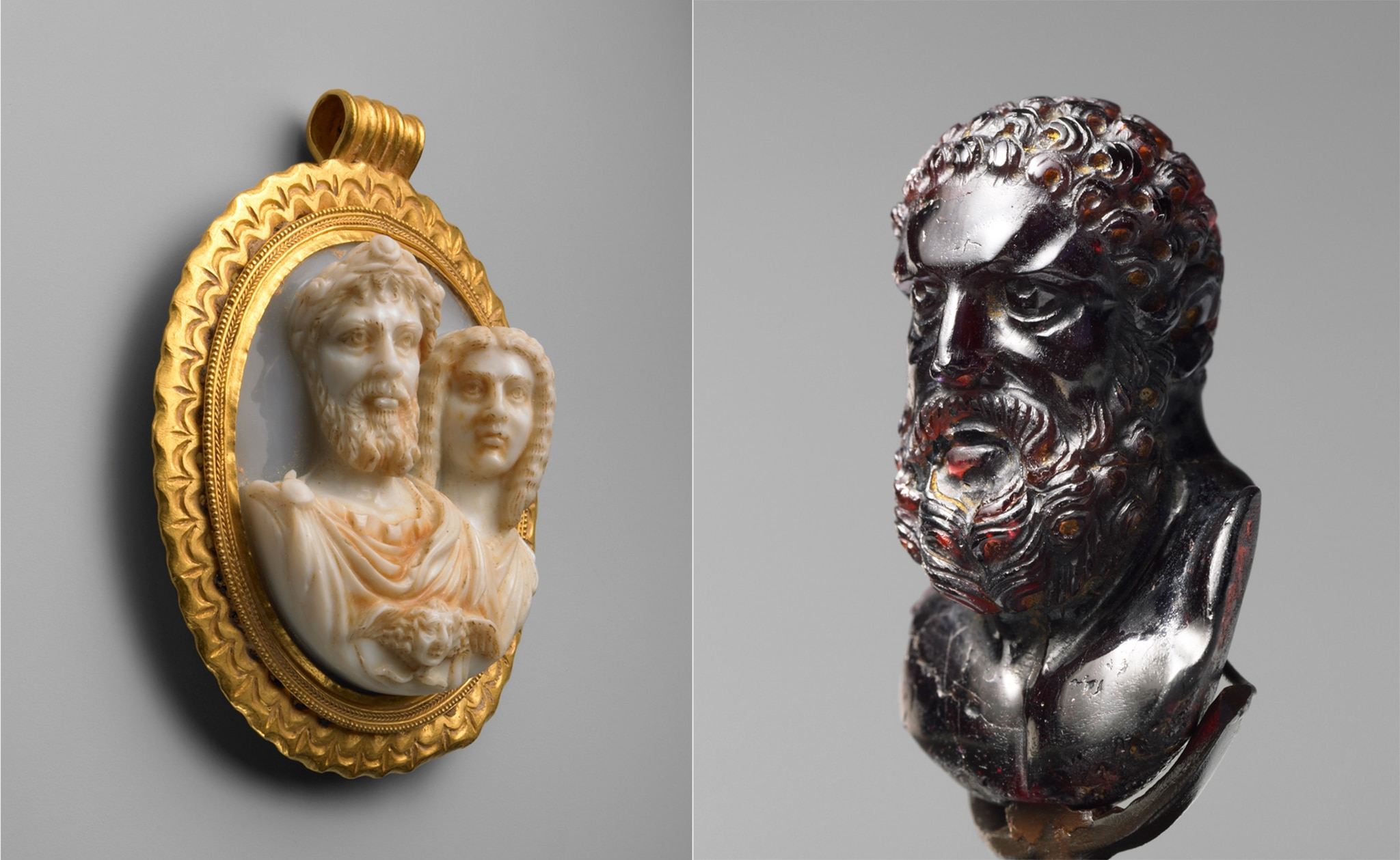 Pendant and bust (© Bruce M. White/Toledo Museum of Art)