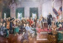 Painting of Founding Fathers (Architect of the Capitol)