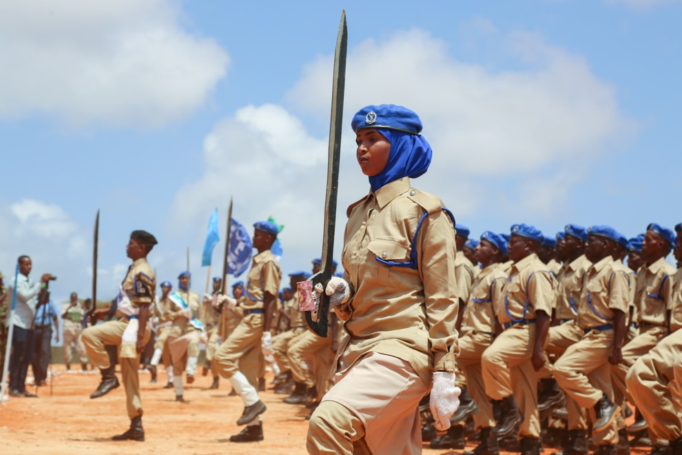 Soldiers marching (AMISOM)