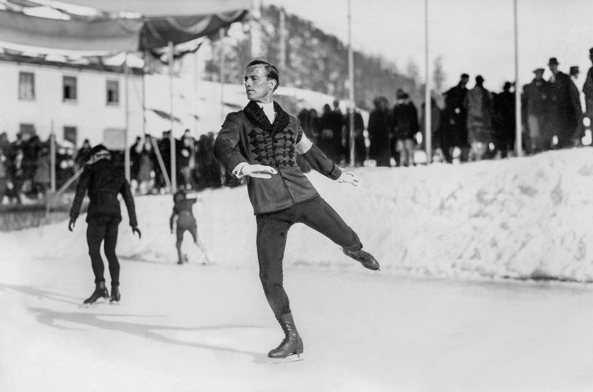 Patinador de gelo em 1928 (© Gerhard Riebicke/ullstein bild/Getty Images)