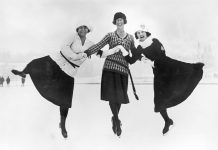 Tres patinadoras de hielo (© Topical Press Agency/Hulton Archive/Getty Images)