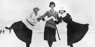 Three ice skaters (© Topical Press Agency/Hulton Archive/Getty Images)