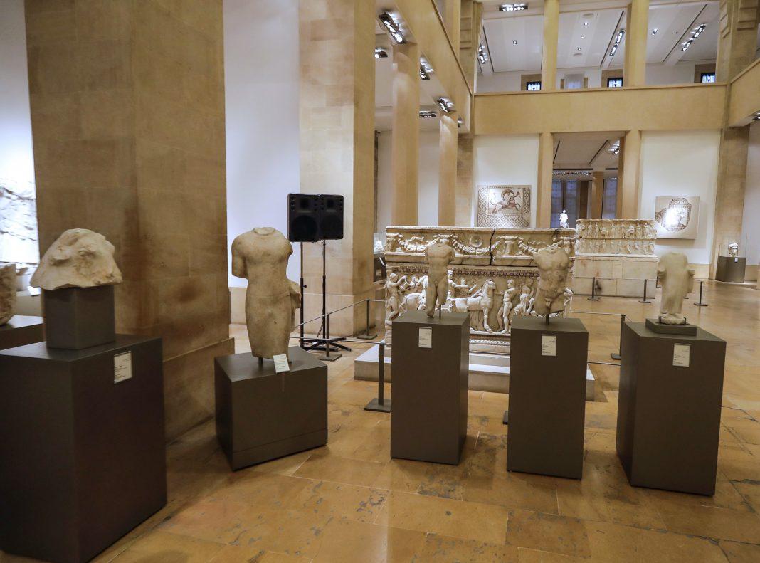 Museum exhibit of ancient sculptures (© Joseph Eie/AFP/Getty Images)