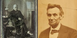 Compilation with photos of John Quincy Adams and Abraham Lincoln (Smithsonian Institution)