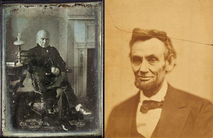 Recopilación de fotos de John Quincy Adams y de Abraham Lincoln (Instituto Smithsoniano)