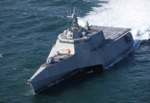 Ship sailing in ocean (Courtesy of Austal USA)