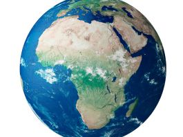Globe showing continent of Africa (© incamerastock/Alamy)