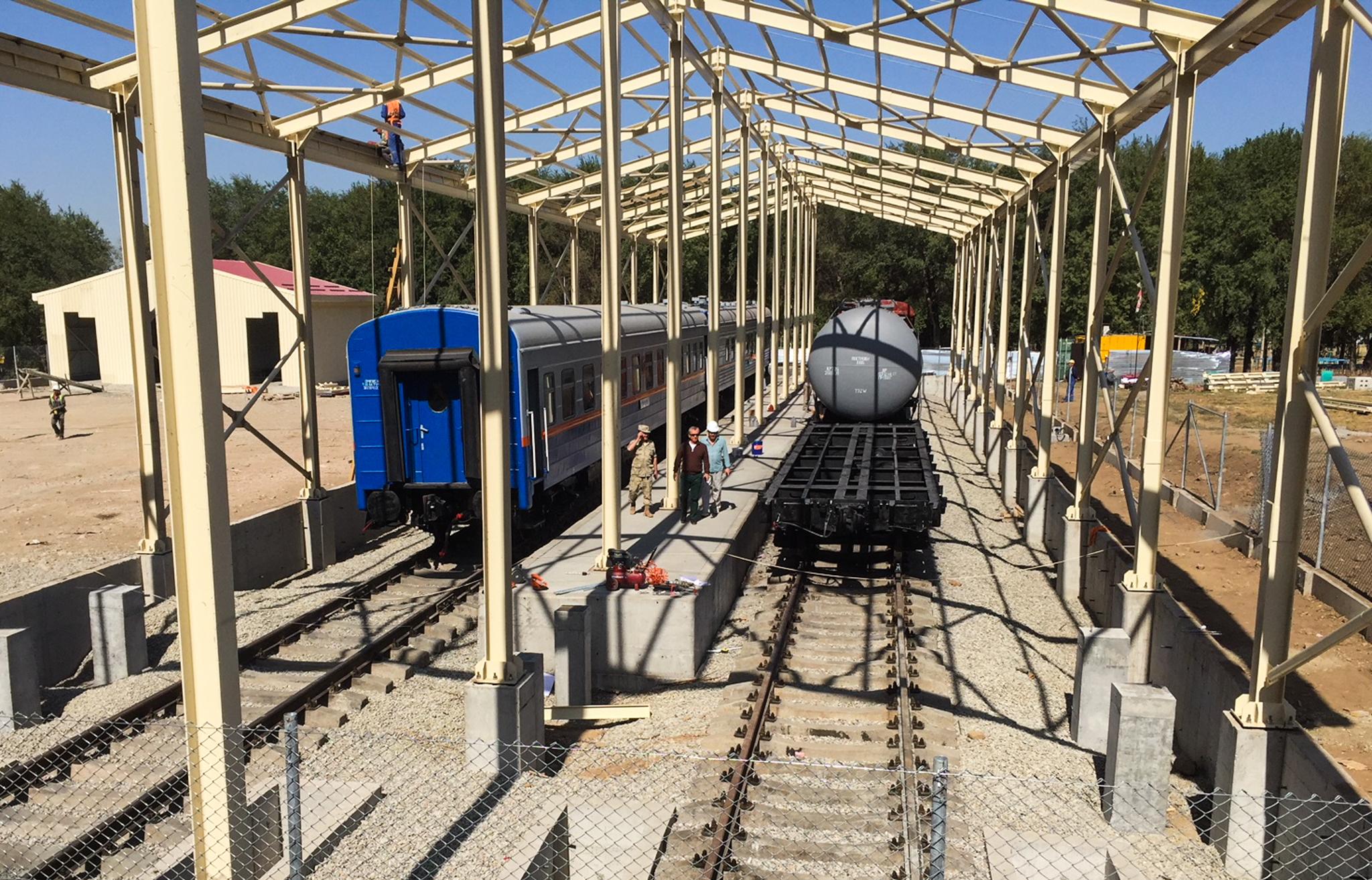 Mock rail station (U.S. Consulate General Almaty/Andrew Chilcoat)