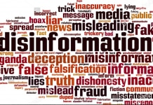Disinformation word cloud (© Shutterstock)