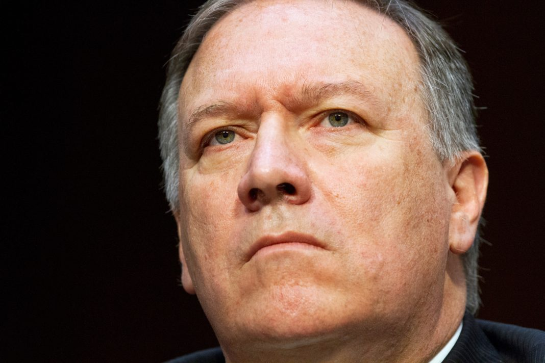 Close-up of Mike Pompeo (© Jacquelyn Martin/AP Images)