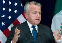 John J. Sullivan speaking at a podium (© Jose Luis Magana/AP Images)