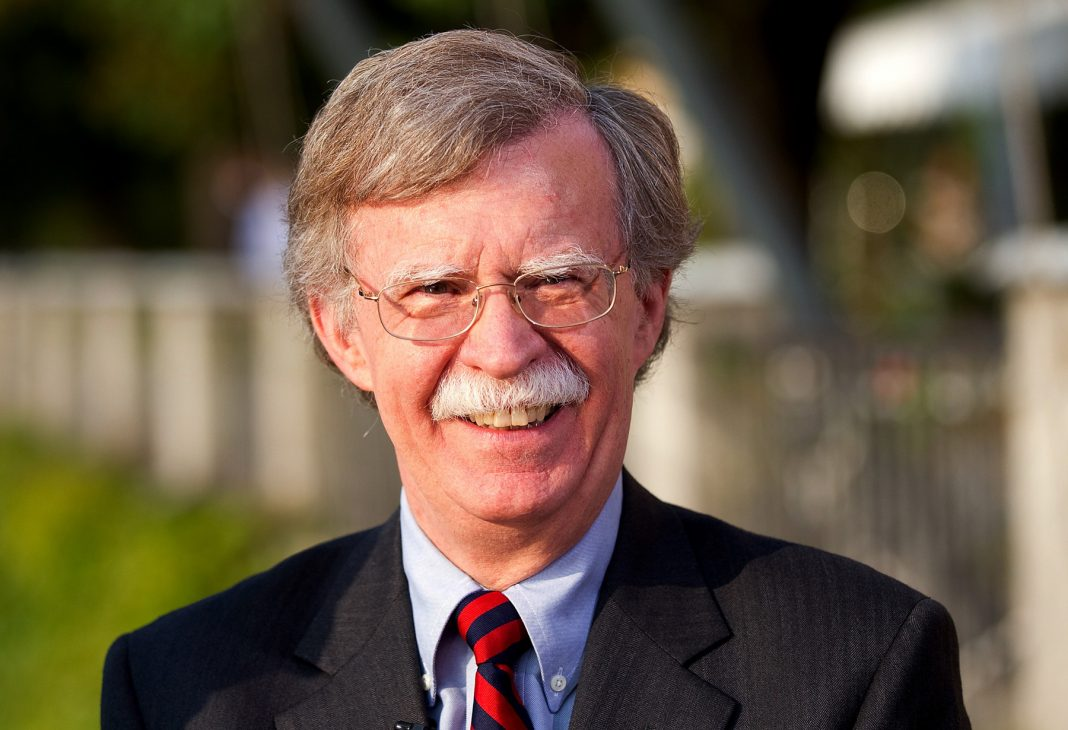 Close-up of John Bolton standing outside (Simon Dawson/Bloomberg/Getty Images)