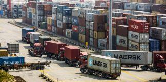Vue du terminal à conteneurs du port en eau profonde de Yangshan (© Qilai Shen/Bloomberg/Getty Images)