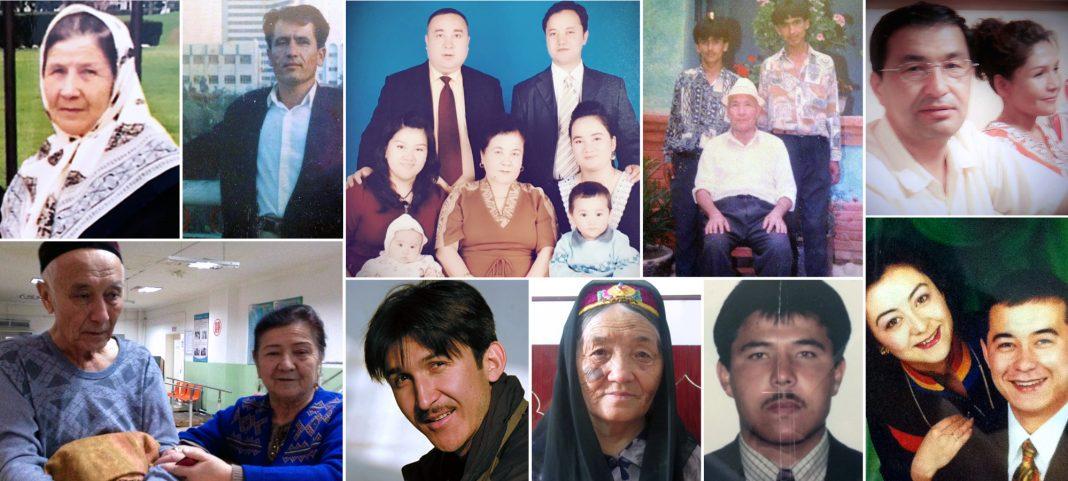 Compilation of portrait photos of Uyghurs (Courtesy photos)
