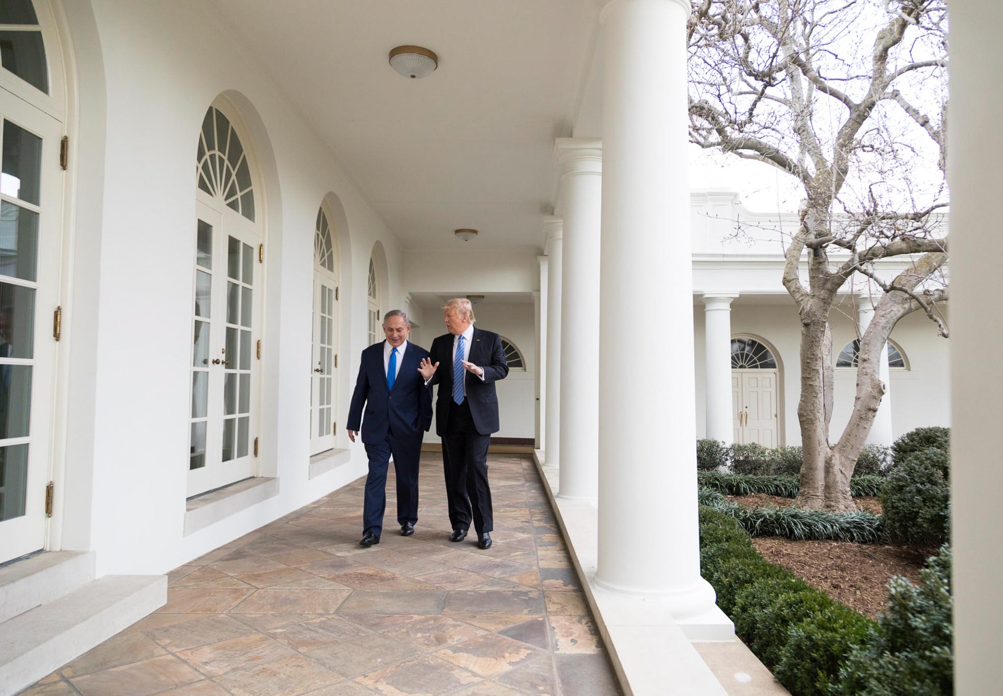 Benjamin Netanyahu and President Trump at White House (Official White House Photo/Shealah D. Craighead)
