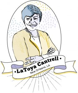 Drawing of LaToya Cantrell (State Dept./S. Gemeny Wilkinson)
