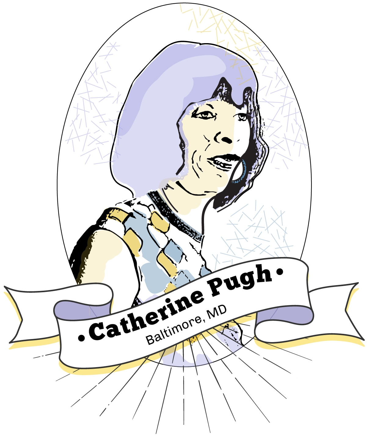 Drawing of Catherine Pugh (State Dept./S. Gemeny Wilkinson)