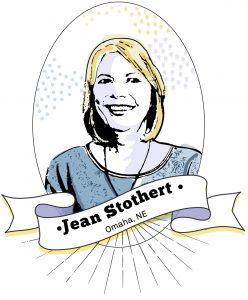 Drawing of Jean Stothert (State Dept./S. Gemeny Wilkinson)