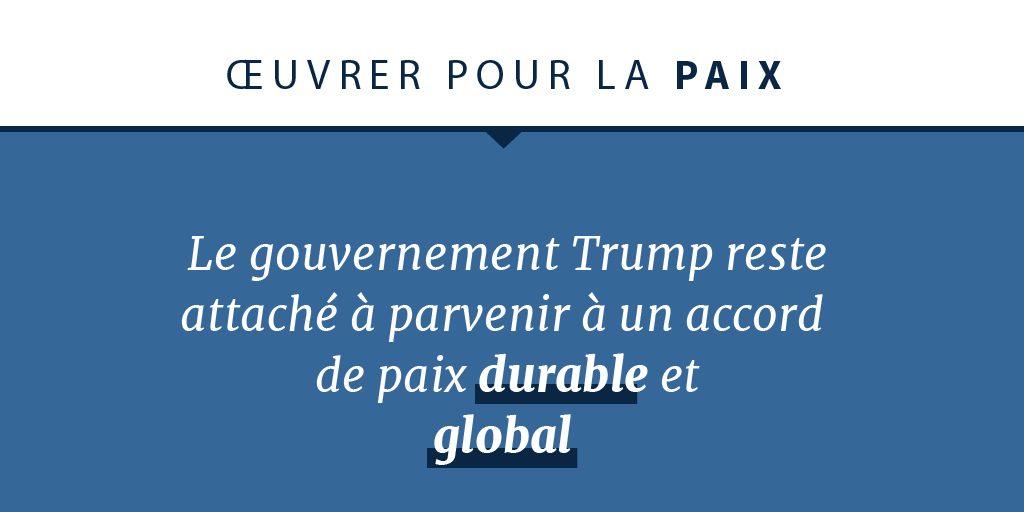Déclaration sur l'engagement envers la paix du gouvernement Trump (département d'État)