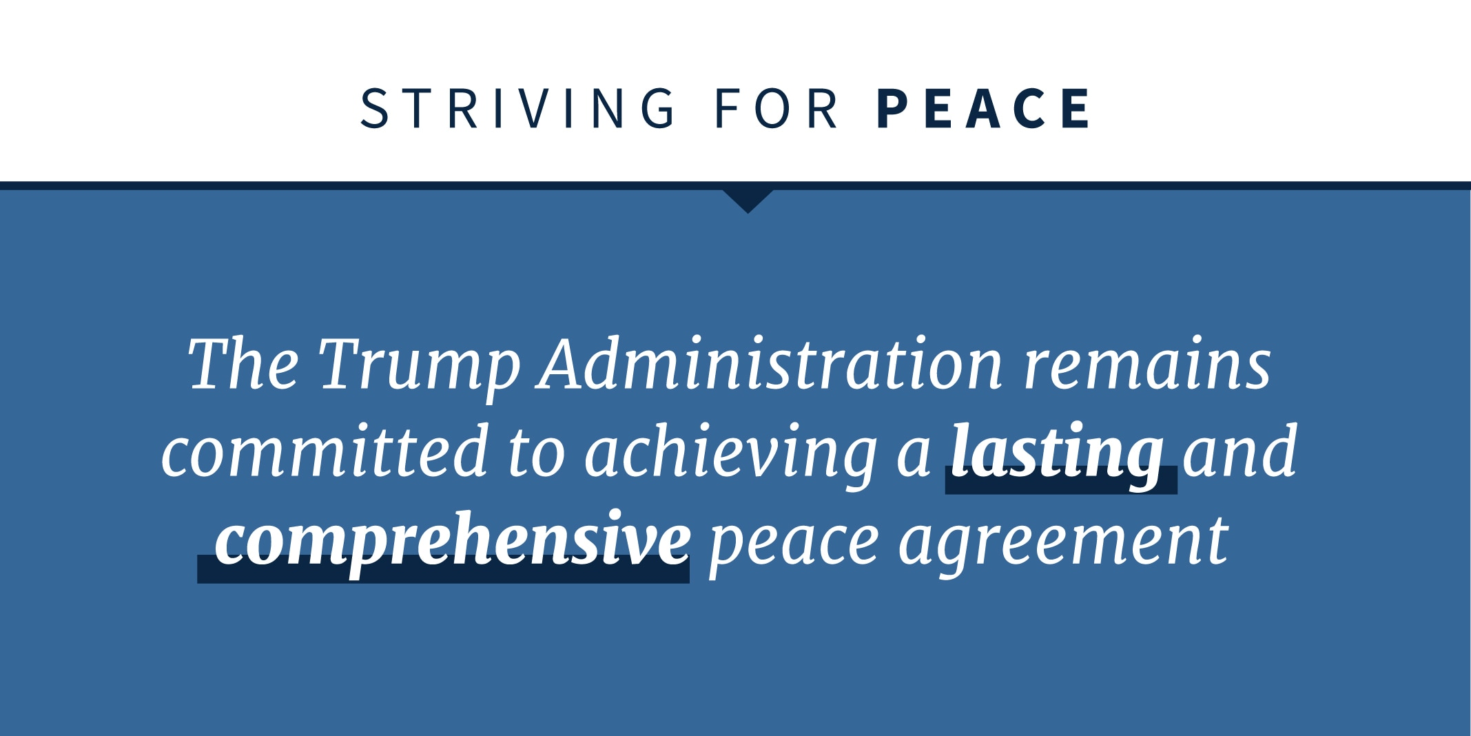 Statement on Trump administration's commitment to peace agreement (State Dept.)
