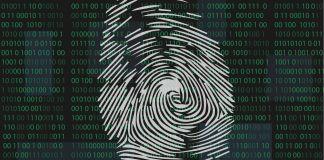 Drawing of fingerprint in front of computer data (© Shutterstock)