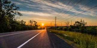 Country road at sunset (Shutterstock)