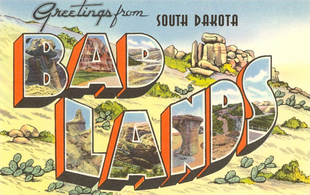Vintage Badlands postcard (© Found Image Holdings/Corbis/Getty Images)