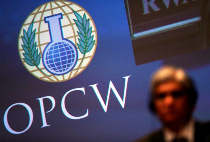 Logotipo de la Organización para la Prohibición de las Armas Químicas (© Yves Herman/Reuters)