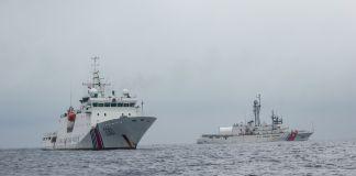 Two ships at sea (U.S. Coast Guard)