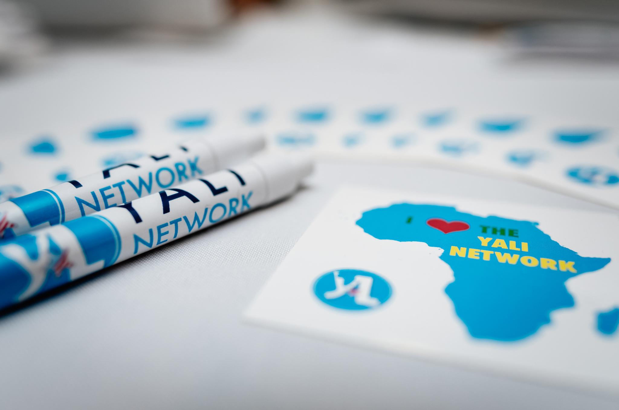 写有非洲青年领袖计划英文缩写的文具