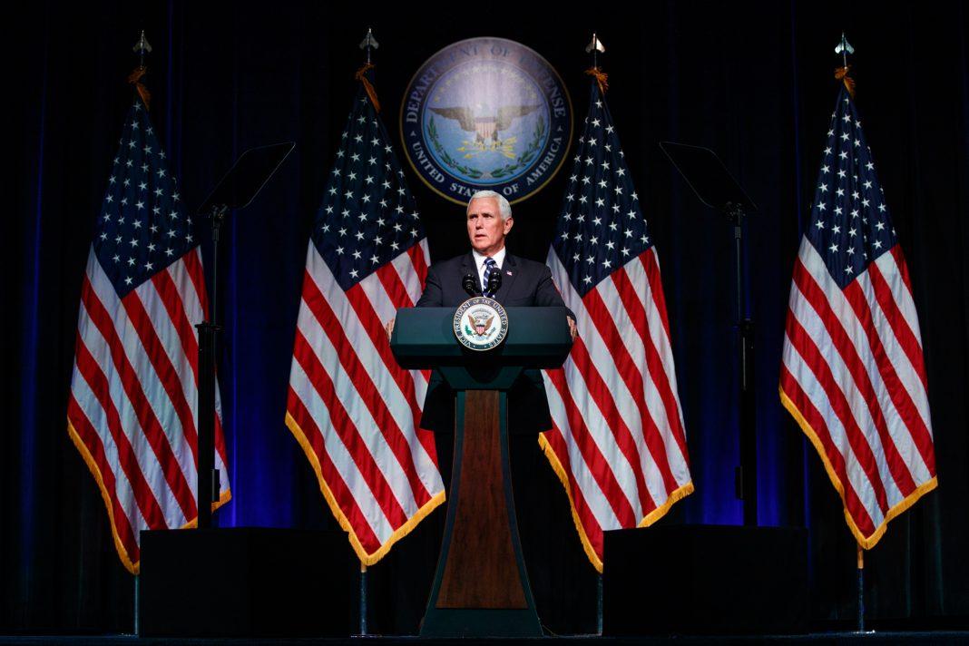 Vice President Pence at lectern (© Evan Vucci/AP Images)