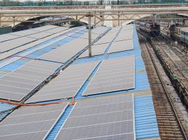 Solar panels at a railway station (USAID PACE-D TA Program)