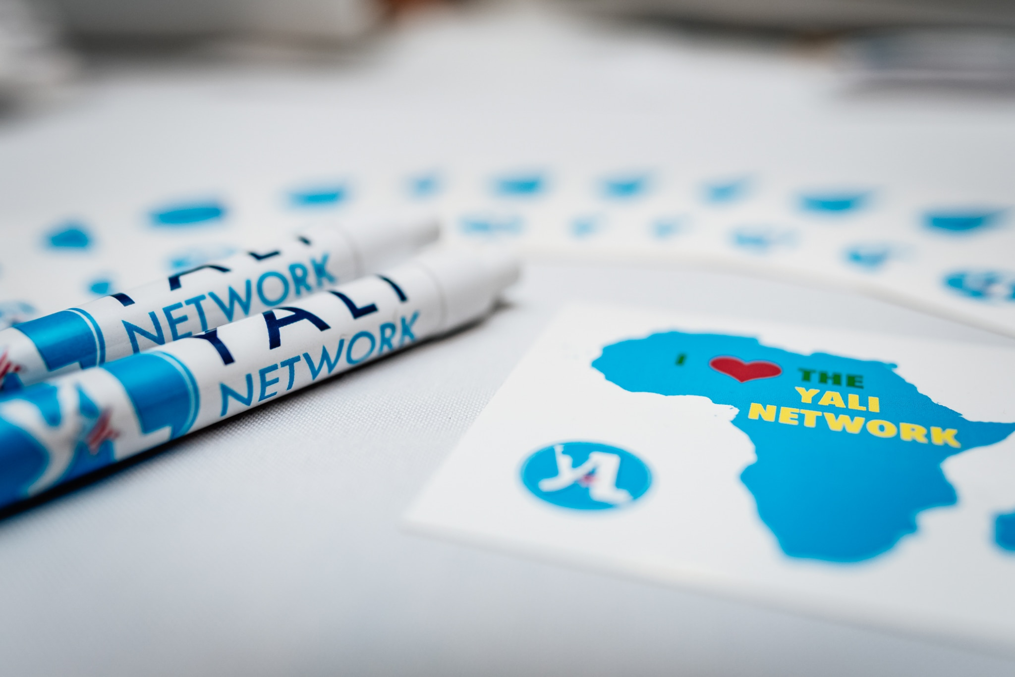 YALI Network pens and stickers (State Dept./D. Durazo)