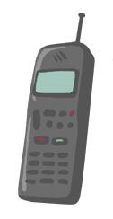 Illustration of second-generation cellphone