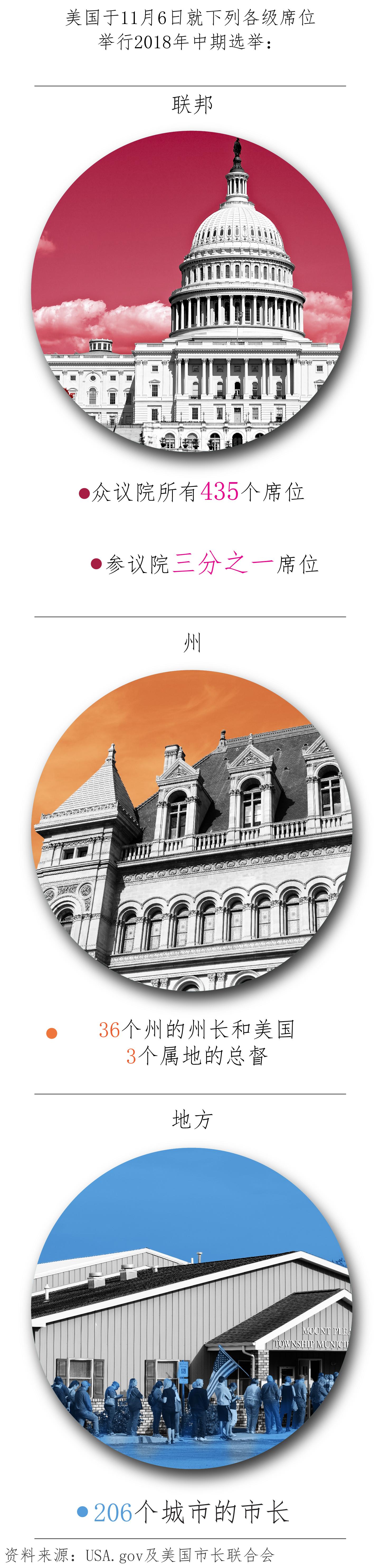 关于11月6日联邦、州和地方一级选举的图示。(State Dept.)