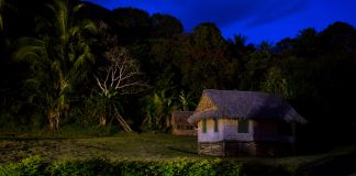 Small village house at night (© Marc Anderson/Alamy Stock Photo)