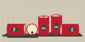 Illustration of oil barrels (State Dept.)