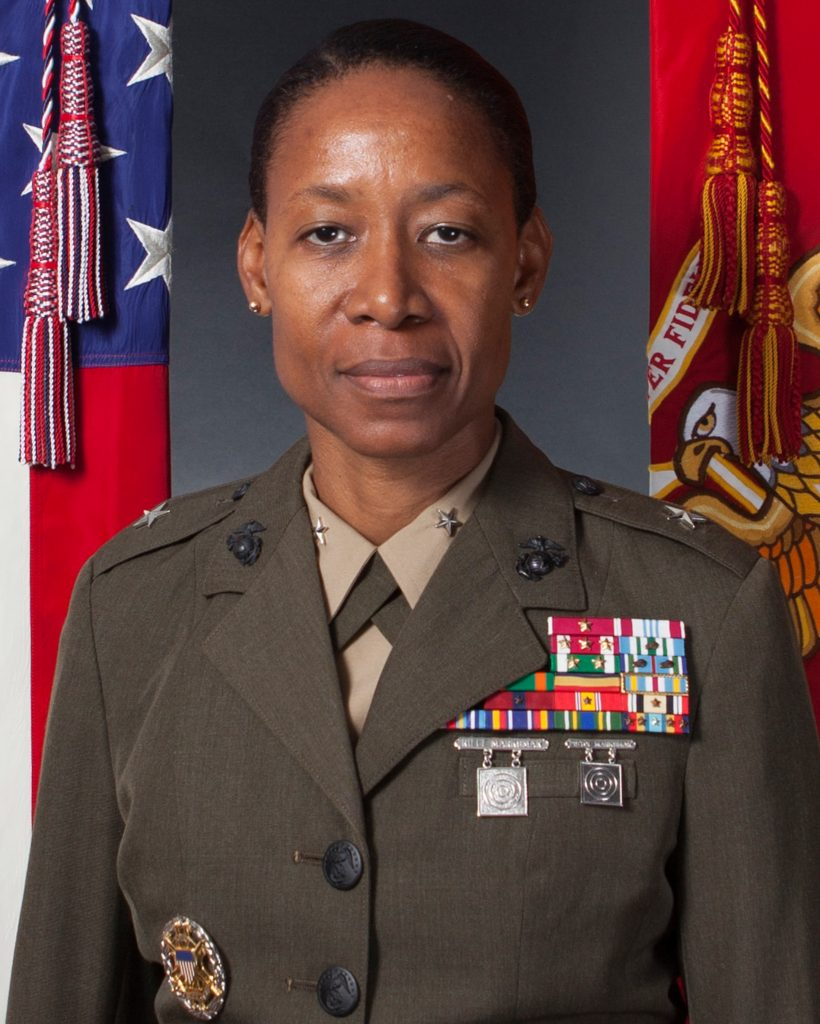 Portrait of Lorna Mahlock in uniform (Private 1st Class Morgan Burgess/USMC)