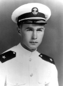 Portrait photo of George H.W. Bush as naval officer (© George Bush Presidential Library/MCT/Getty Images)